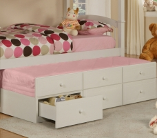 270-078 May Collection Trundle With 3 Drawers - Dimensions: 74
