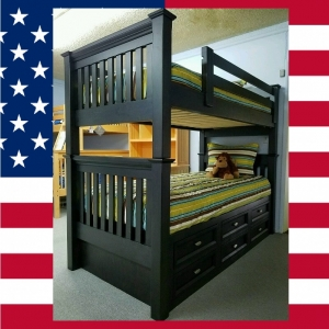 Item # US0003 Hills Twin over Twin Bunk Bed - Made in USA<br><br>Durable & Super Strong<br><br>Available in 33 Different Color<br><br>Made to order<br><br>Modifications are available<br><br>Sizes Available: Twin/Full/Queen