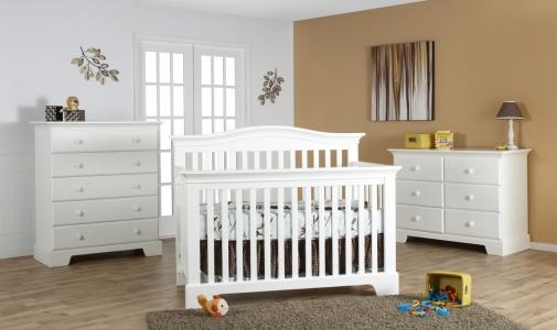 0167 Modern Curve Crib - Assembled Dimensions: 59